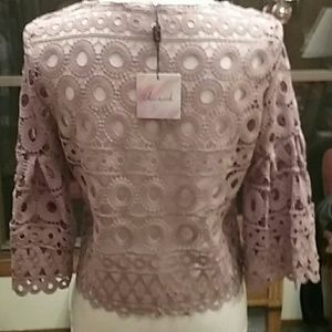 Dusty pink NWT Chicwish top
